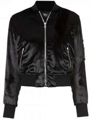 Velvet finish bomber jacket AMIRI. Цвет: черный