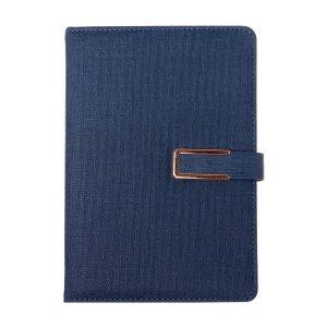 Органайзер, формат а5, с хлястиком, 100 листов, линия, обложка пвх синий Calligrata