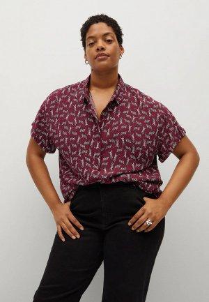 Блуза Violeta by Mango - COMBINA. Цвет: бордовый