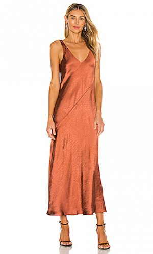 Макси платье loulou Line & Dot. Цвет: тёмно-оранжевый