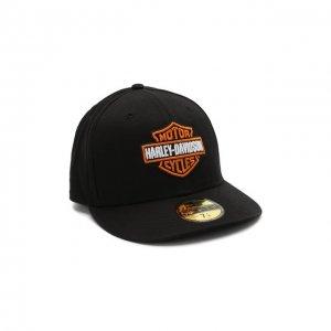Хлопковая бейсболка Genuine Motorclothes Harley-Davidson. Цвет: чёрный