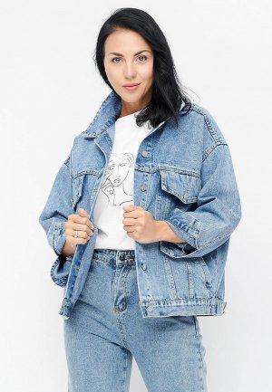 Куртка джинсовая Bellart. Цвет: синий