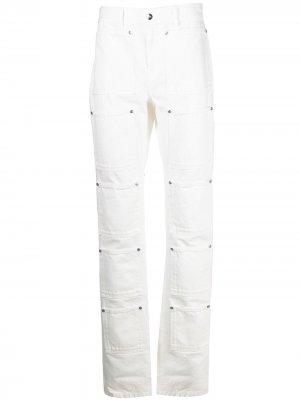 Расклешенные джинсы с завышенной талией Lourdes. Цвет: белый