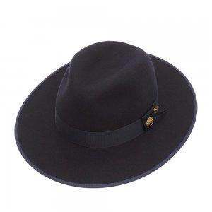 Шляпа федора CHRISTYS. Цвет: синий