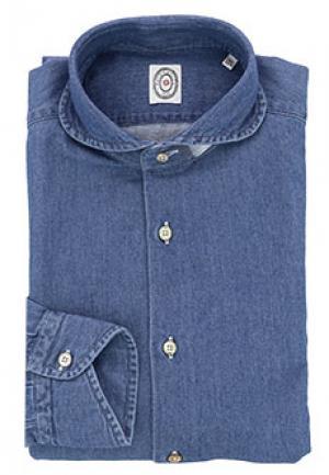 Рубашка CAMICERIA SCABO. Цвет: синий