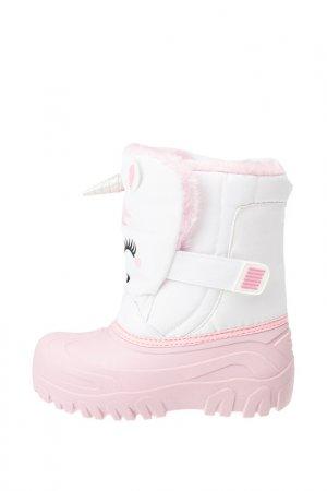 Сапоги-сноубутсы PlayToday. Цвет: белый, светло-розовый