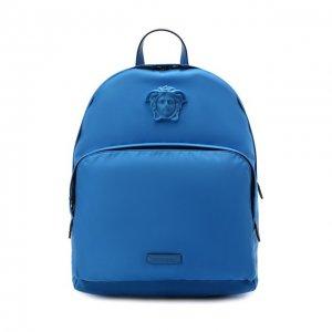 Рюкзак Medusa Versace. Цвет: синий