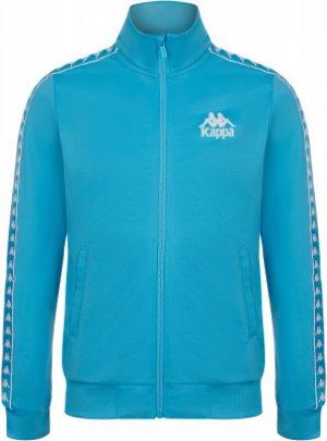 Олимпийка для девочек , размер 140 Kappa. Цвет: голубой
