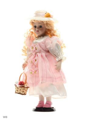 Кукла фарфор 16 Инес Angel Collection. Цвет: розовый, белый
