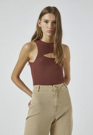 Майка Pull&Bear. Цвет: коричневый
