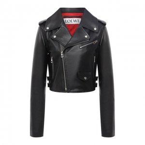 Кожаная куртка Loewe. Цвет: чёрный