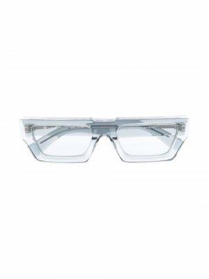 Солнцезащитные очки Manchester в прямоугольной оправе Off-White. Цвет: серый