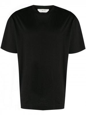 Однотонная футболка Z Zegna. Цвет: черный