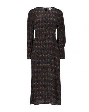 Платье длиной 3/4 ATTIC AND BARN. Цвет: хаки
