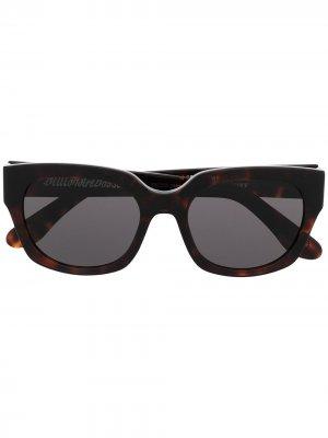 Солнцезащитные очки в оправе кошачий глаз Billionaire Boys Club. Цвет: черный