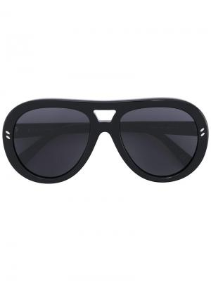 Солнцезащитные очки в круглой оправе Stella Mccartney Eyewear. Цвет: чёрный