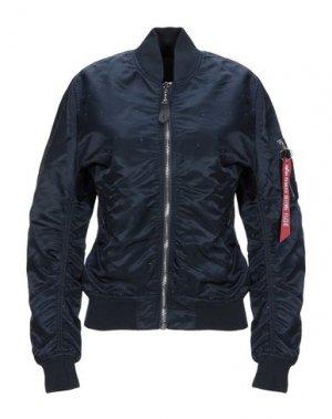 Куртка ALPHA INDUSTRIES. Цвет: темно-синий