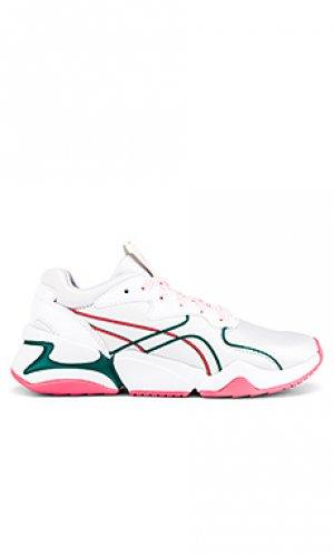 Кроссовки Puma. Цвет: белый,розовый