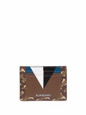 Картхолдер с геометричным принтом Burberry. Цвет: коричневый