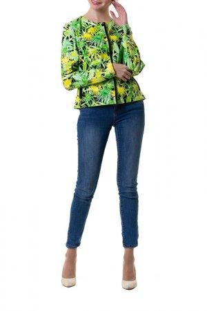 Куртка Adzhedo. Цвет: черный, зеленый, желтый