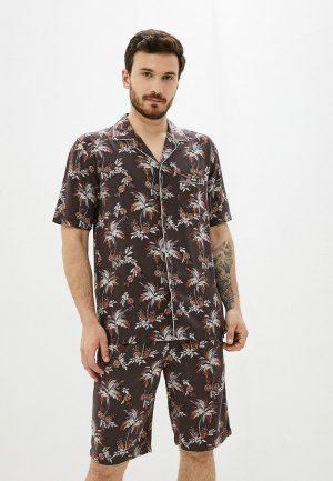 Пижама Henderson. Цвет: коричневый