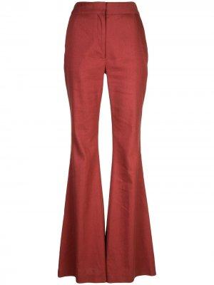 Расклешенные брюки Adam Lippes. Цвет: оранжевый