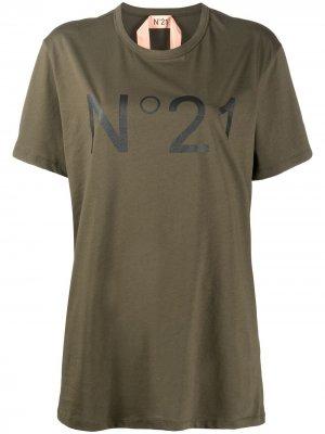 Logo-print T-shirt Nº21. Цвет: зеленый
