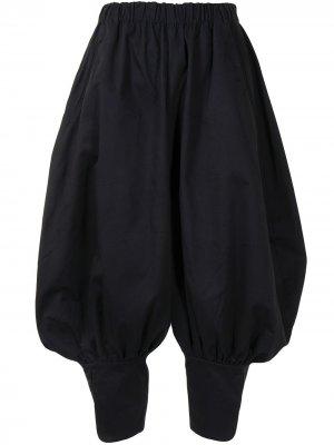 Укороченные брюки-шаровары Renli Su. Цвет: черный
