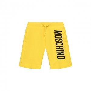 Хлопковые шорты Moschino. Цвет: жёлтый