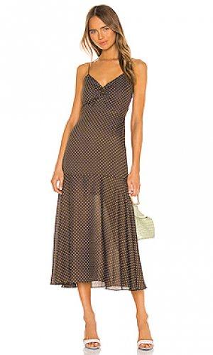 Платье nizarra Alexis. Цвет: коричневый