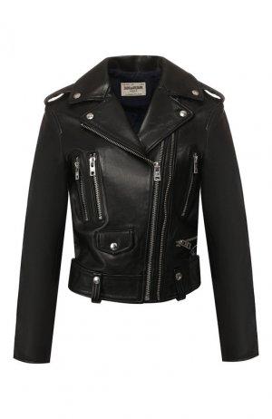 Кожаная куртка Zadig&Voltaire. Цвет: черный
