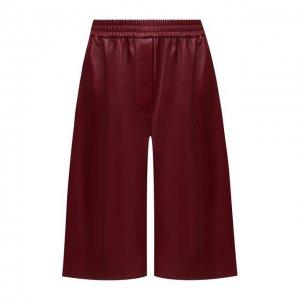 Кожаные шорты Joseph. Цвет: красный