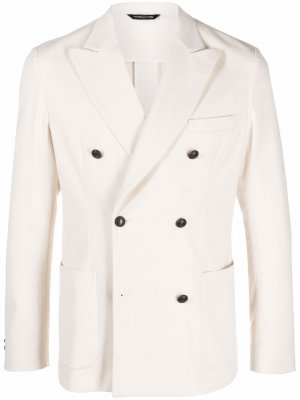 Двубортный пиджак Tonello. Цвет: белый