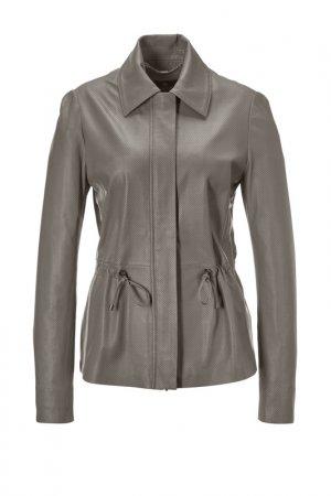 Куртка кожаная Madeleine. Цвет: grau