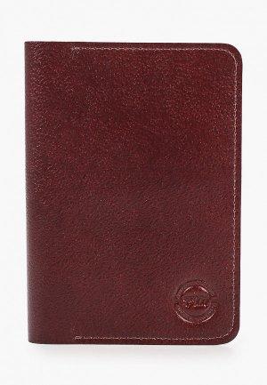 Обложка для паспорта Franchesco Mariscotti. Цвет: коричневый