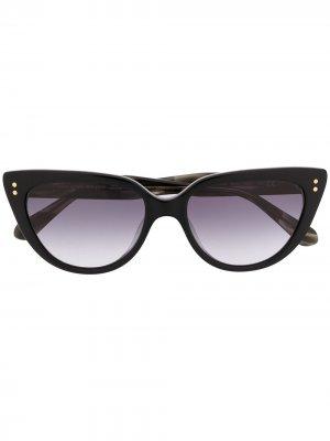 Солнцезащитные очки Alijah в оправе кошачий глаз Kate Spade. Цвет: черный