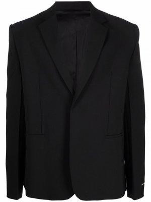 Однобортный пиджак строгого кроя 1017 ALYX 9SM. Цвет: черный