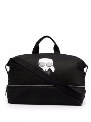 Дорожная сумка K/Ikonik Karl Lagerfeld. Цвет: черный
