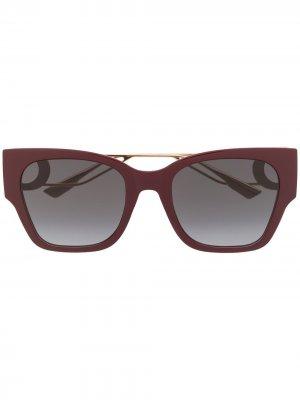 Солнцезащитные очки 30 Montaigne 1 в квадратной оправе Dior Eyewear. Цвет: красный