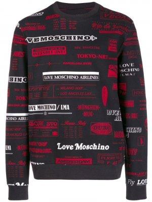 Толстовка с графичным принтом Love Moschino