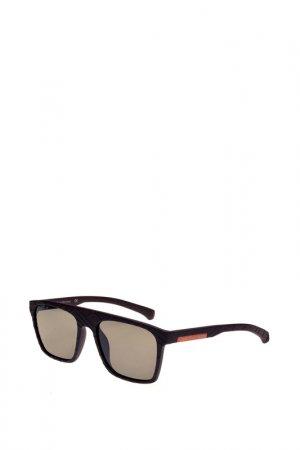 Солнцезащитные очки CKJ. Цвет: черный