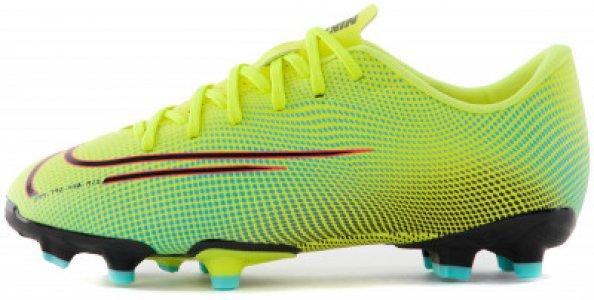 Бутсы для мальчиков Vapor 13 Academy MDS FG/MG, размер 34.5 Nike. Цвет: желтый