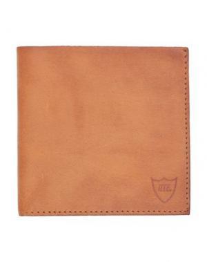 Бумажник HTC. Цвет: желто-коричневый
