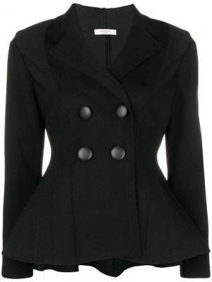 Куртка с баской Charlott. Цвет: черный