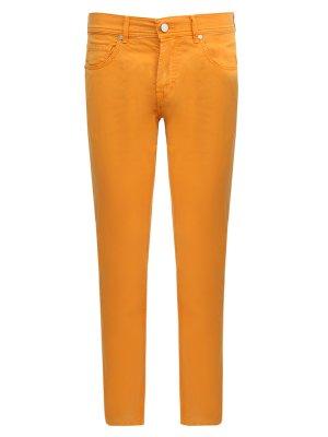 Брюки из хлопка Baldessarini. Цвет: оранжевый