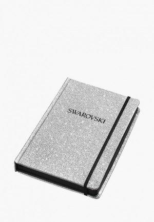 Блокнот Swarovski®. Цвет: серебряный
