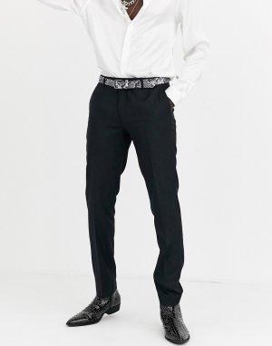 Черные брюки под смокинг -Черный Twisted Tailor