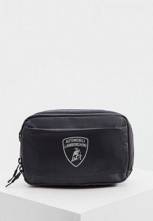 Сумка поясная Automobili Lamborghini. Цвет: серый