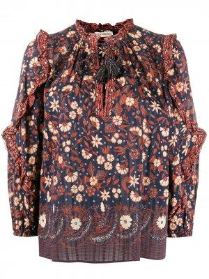 Блузка Azelea с кисточками Ulla Johnson. Цвет: синий
