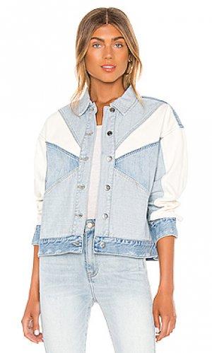Джинсовая куртка willow PISTOLA. Цвет: синий